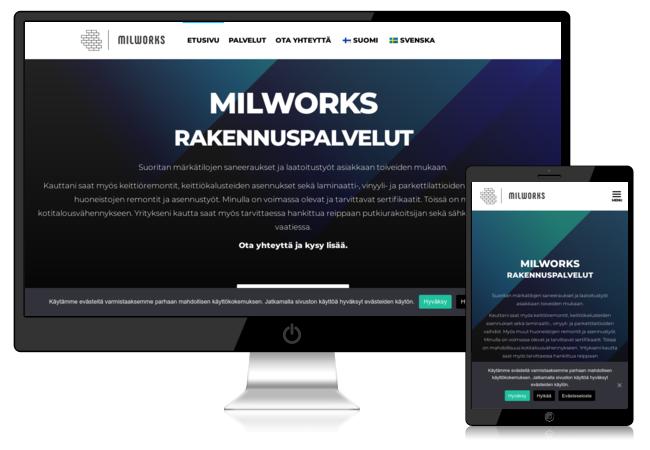 Milworks verkkosivut